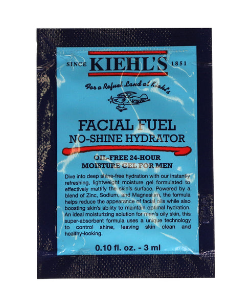 Kiehl's Facial Fuel No-Shine Hydrator Moisture Gel For Men 0.10oz (Pack Of 20)
