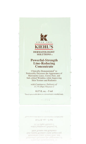 Kiehls Powerful-Strength Line-Reducing Concentrate Sample 0.17oz New Pack Of 10