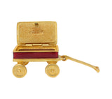 Estee Lauder Pleasures Toy Wagon Solid Perfume Compact No Label Vintage