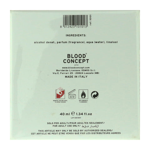 Blood Concept O Parfum Dropper 40ml/1.34Oz New In Box