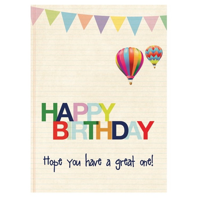 GREETING CARD - HAPPY BIRTHDAY BUNTING