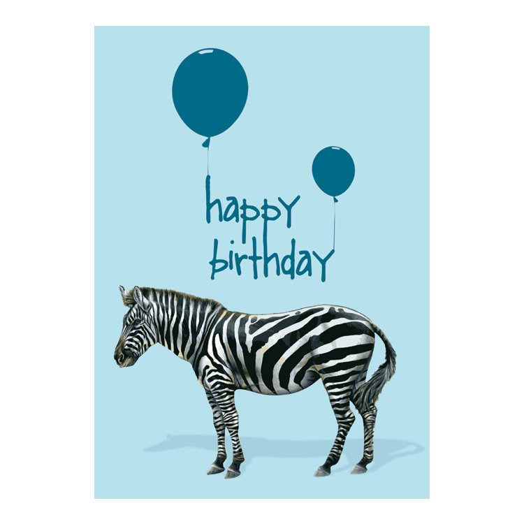 GREETING CARD - HAPPY BIRTHDAY ZEBRA