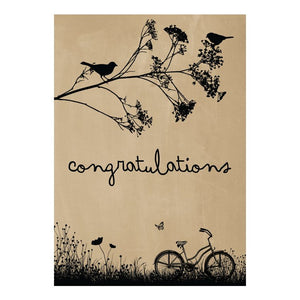GREETING CARD - CONGRATULATIONS BIKE