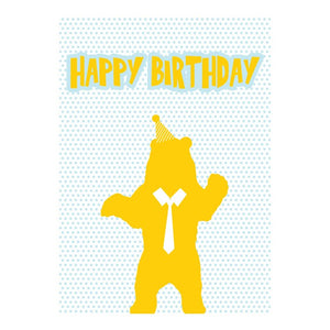 GREETING CARD - HAPPY BIRTHDAY BEAR