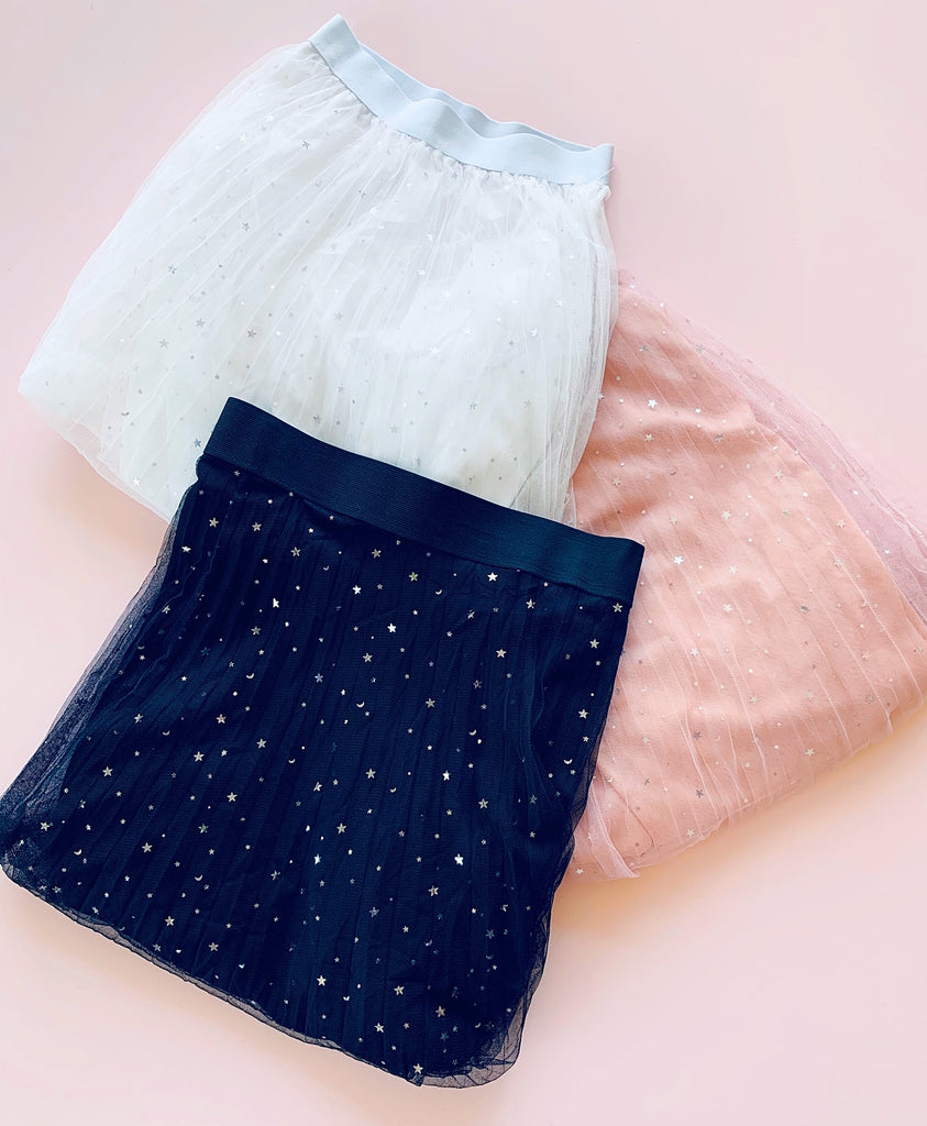 Star Tulle Skirts - Pink, Black and White - PREORDER