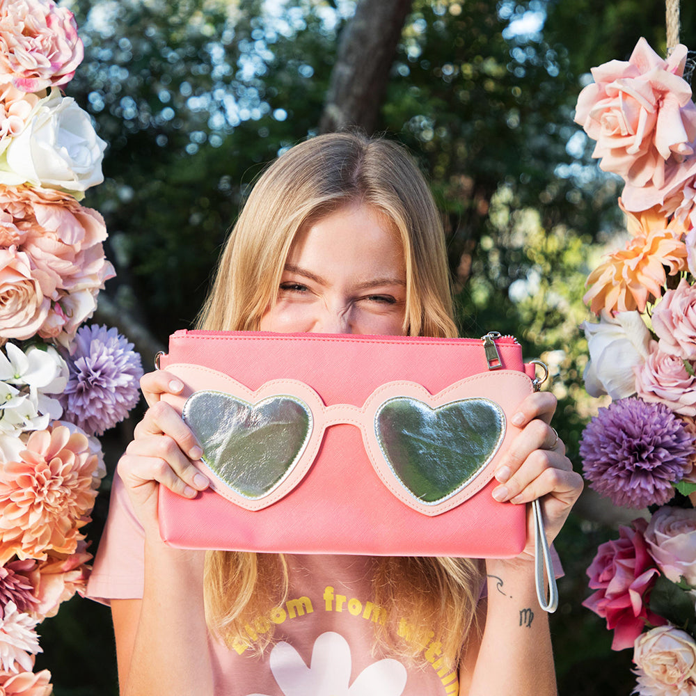 Love Heart Sunnies clutch by Can't Clutch This