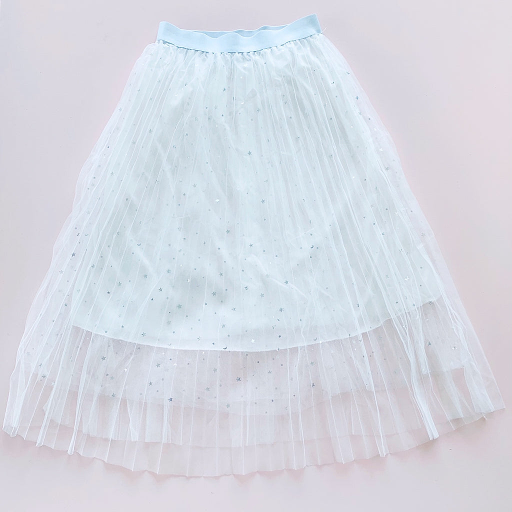 Kids Star Tulle Skirts - Pink, Black and White