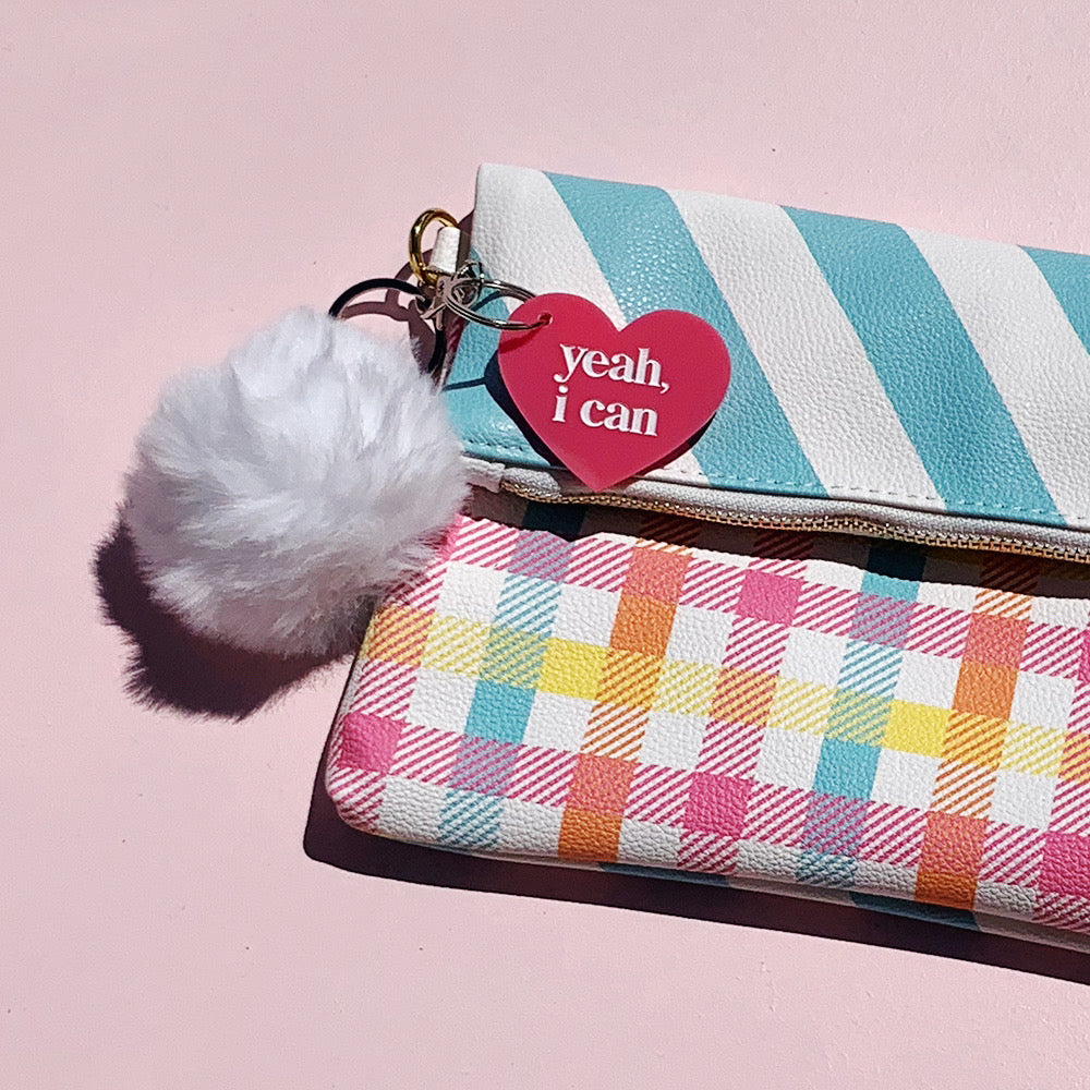 Gingham Clutch by Can't Clutch This