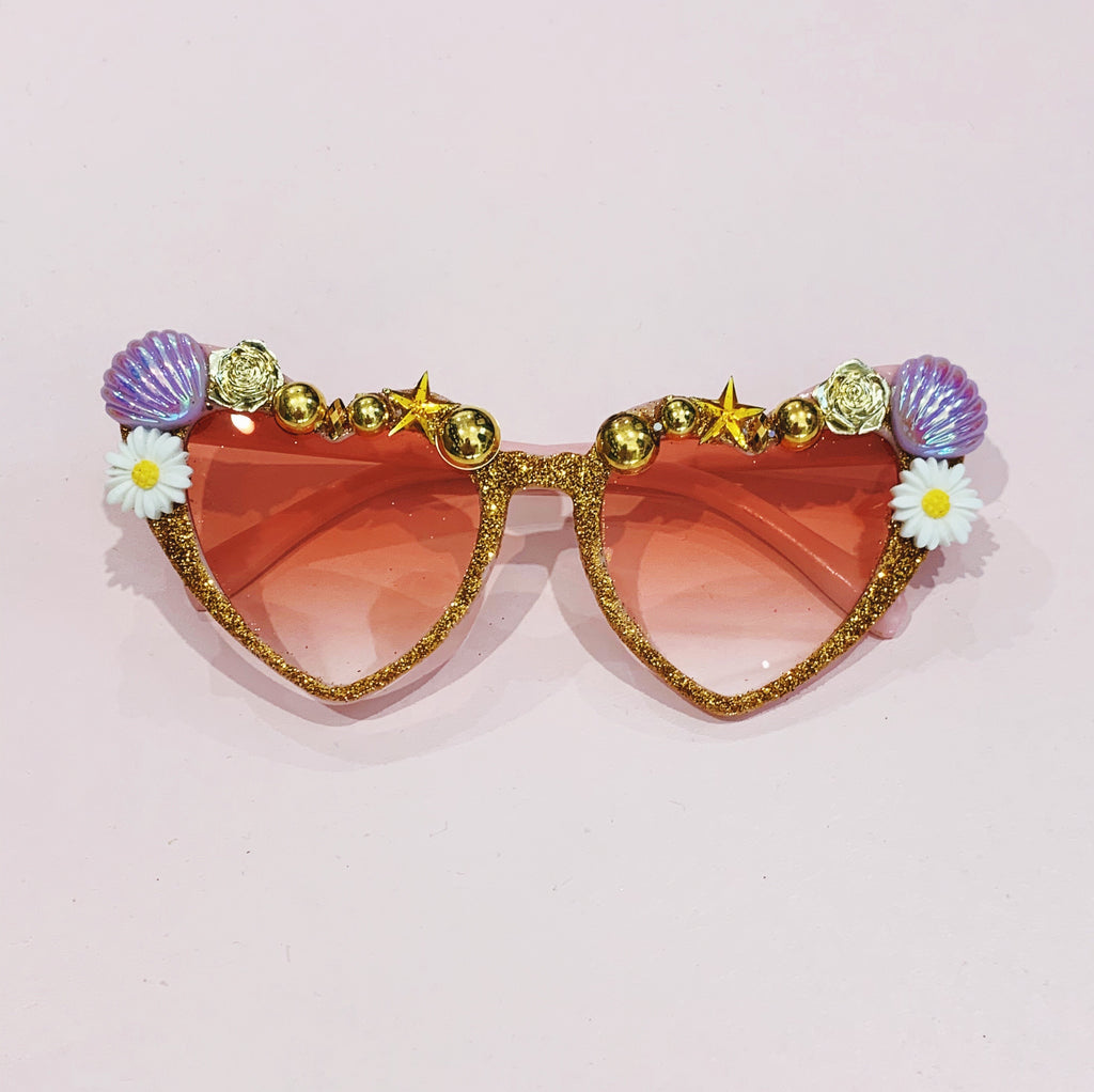 "Bedazzled Sunglasses ""The Dita Von Teese"" - Pink Lenses"