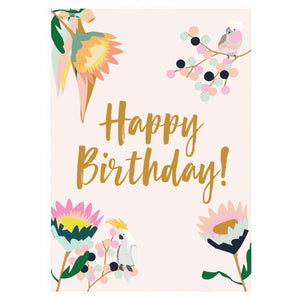 GREETING CARD - HAPPY BIRTHDAY NATIVE FLORAL CARD