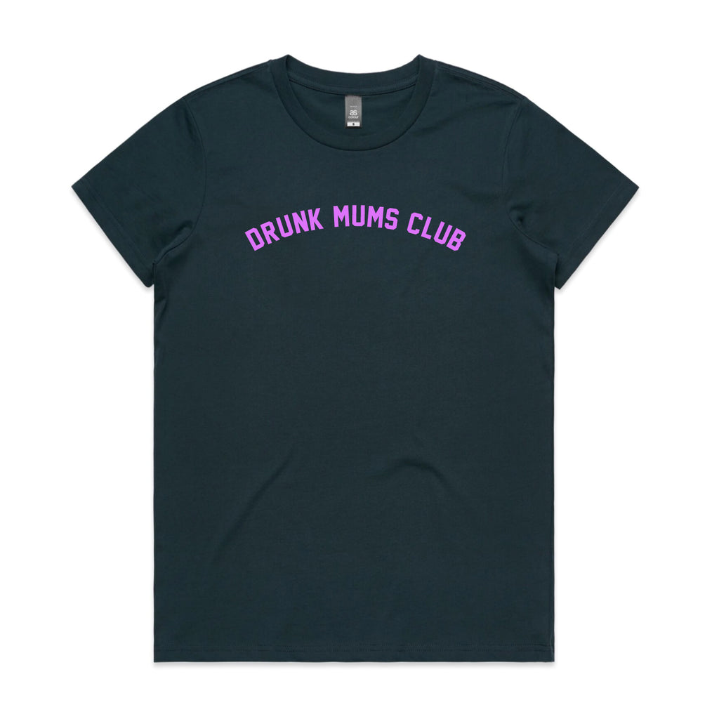 Drunk Mums Club Indigo Womens T-shirt - SALE