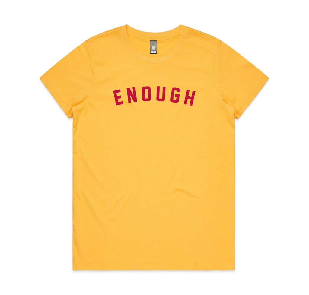 ENOUGH Yellow Womens T-shirt
