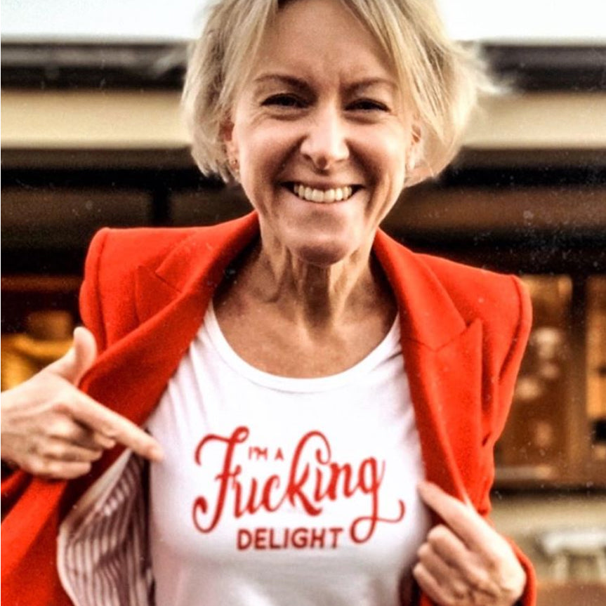 I'm a Fucking Delight Womens T-shirt SCOOP