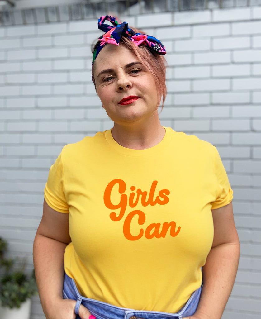 Girls Can Yellow T-Shirt