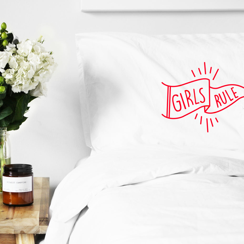 Girls Rule Pillowcase