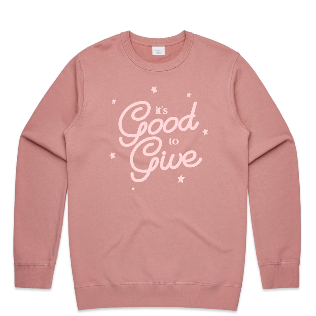It's good to give Womens Crew Jumper