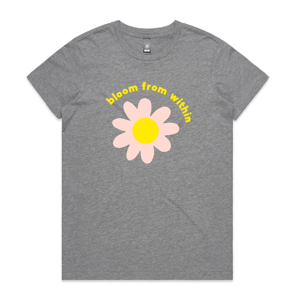 Bloom from Within Grey T-shirt