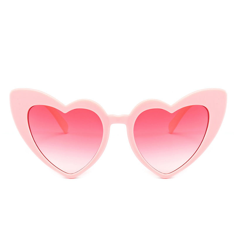 Pink Love Heart Sunglasses Pink Lenses