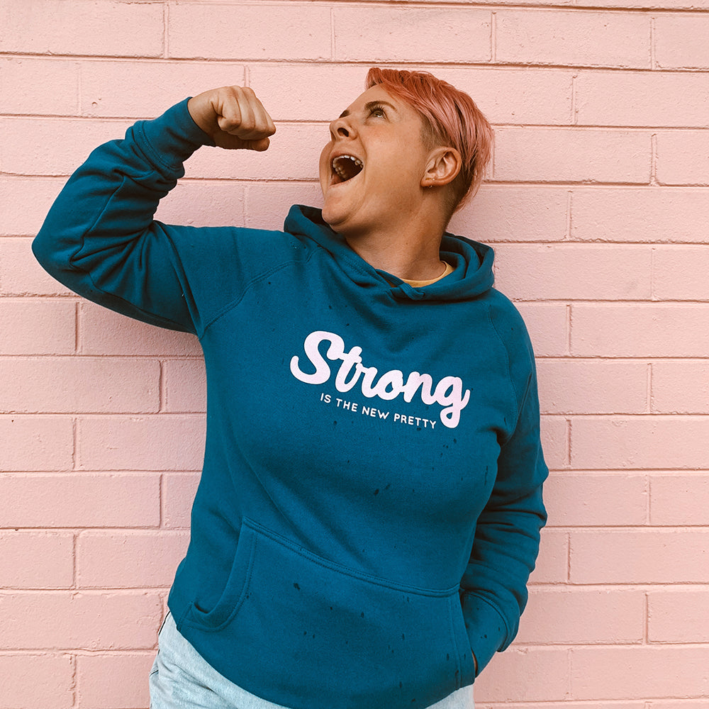 Strong is the New Pretty Hoodie - Royal Blue