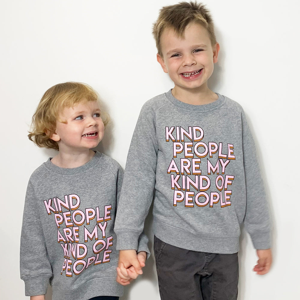 KIND PEOPLE Grey Kids Jumper