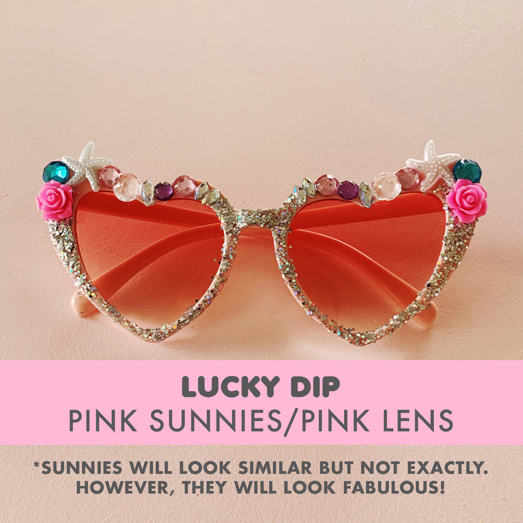Bedazzled Sunglasses - LUCKY DIP (Pink sunnies)