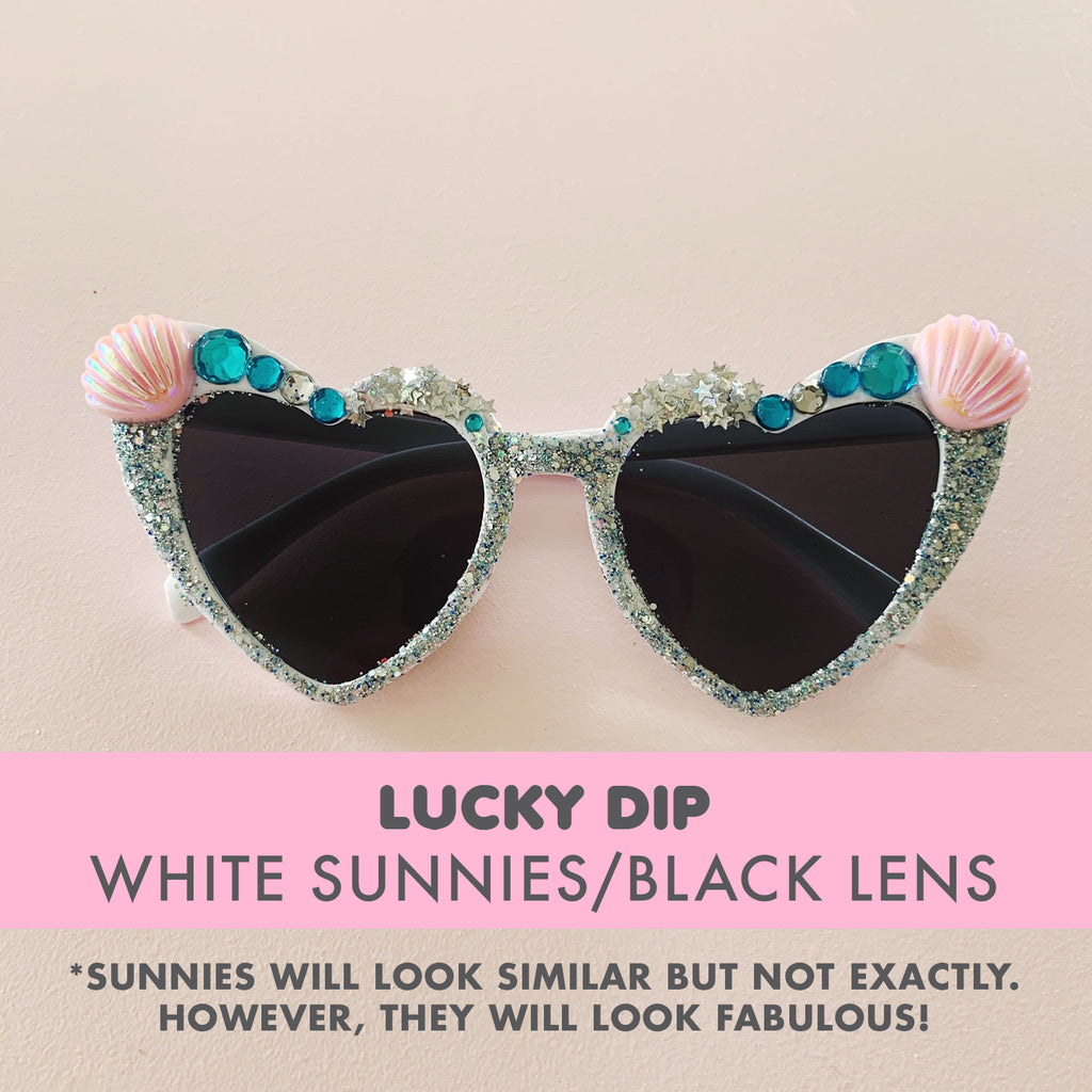Bedazzled Sunglasses - LUCKY DIP (White sunnies)