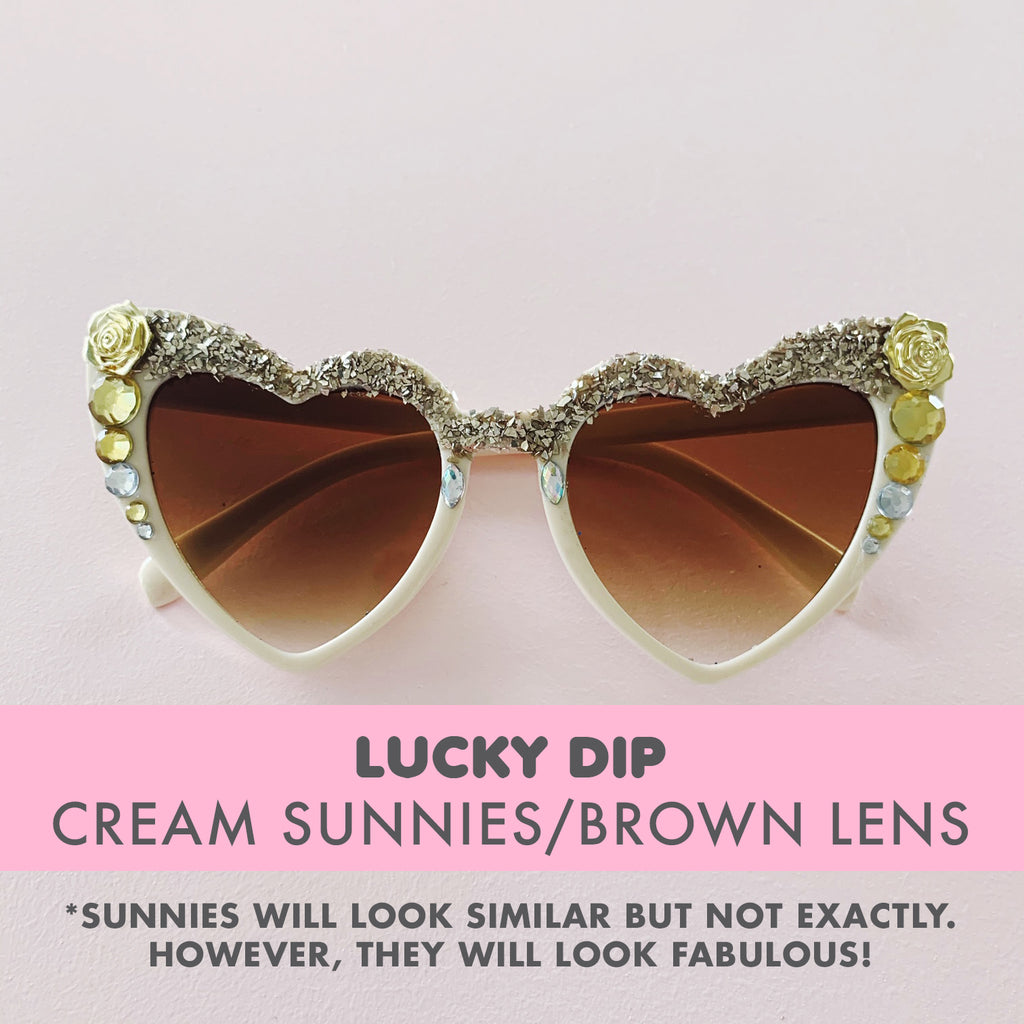 Bedazzled Sunglasses - LUCKY DIP (Cream sunnies)