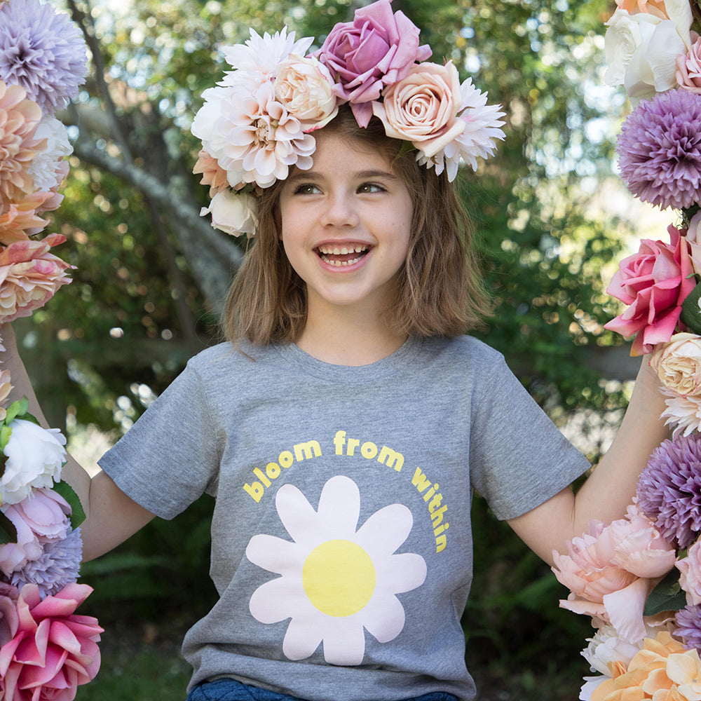 """Bloom from Within"" Kids Tee"