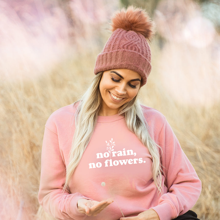 No rain, No Flowers Crew Neck Jumper