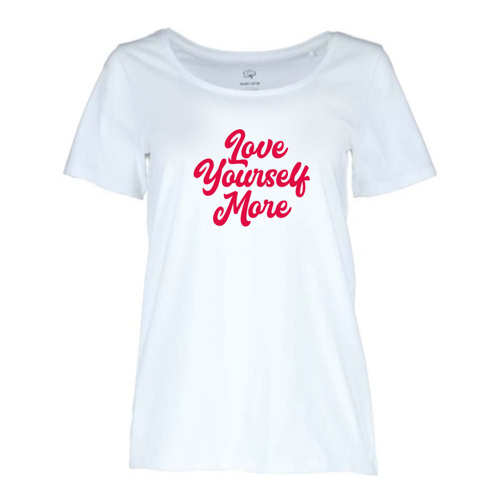 ♥ LOVE YOURSELF MORE fucshia Womens T-Shirt  ♥