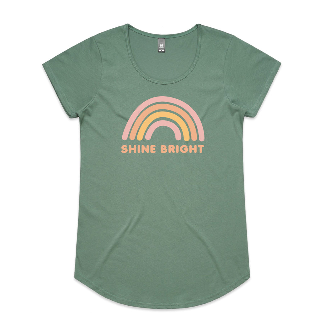 Shine Bright Womens Scoop T-Shirt