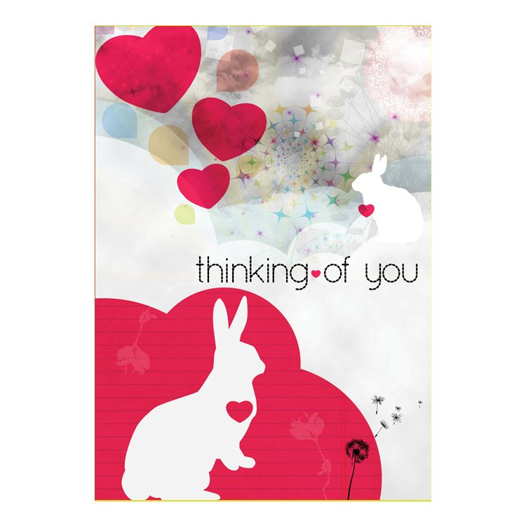 GREETING CARD - THINKING OF YOU BUNNY