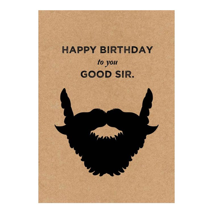 GREETING CARD - HAPPY BIRTHDAY TO YOU GOOD SIR