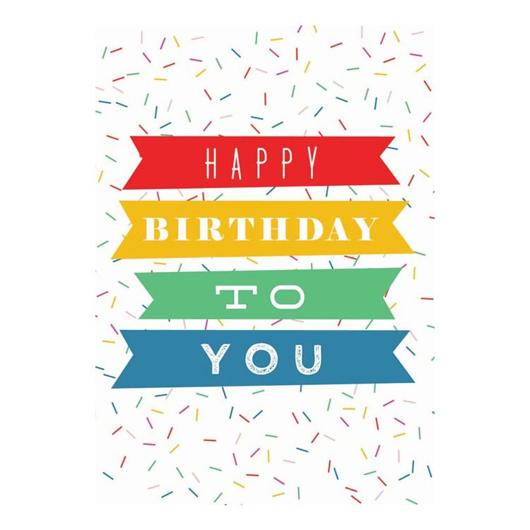 GREETING CARD - HAPPY BIRTHDAY SPRINKLES