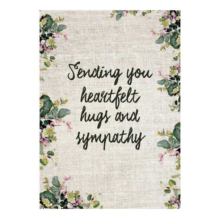GREETING CARD - SENDING YOU HEARTFELT HUGS AND SYMPATHY