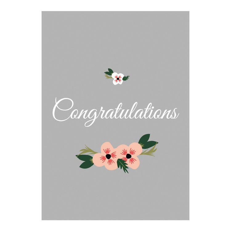 GREETING CARD - CONGRATULATIONS FLORAL