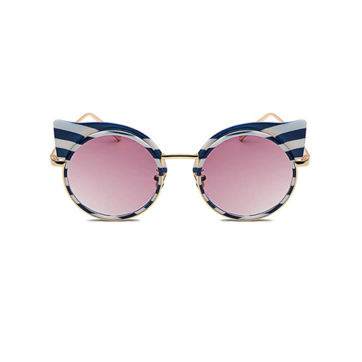Capri Striped Sunglasses