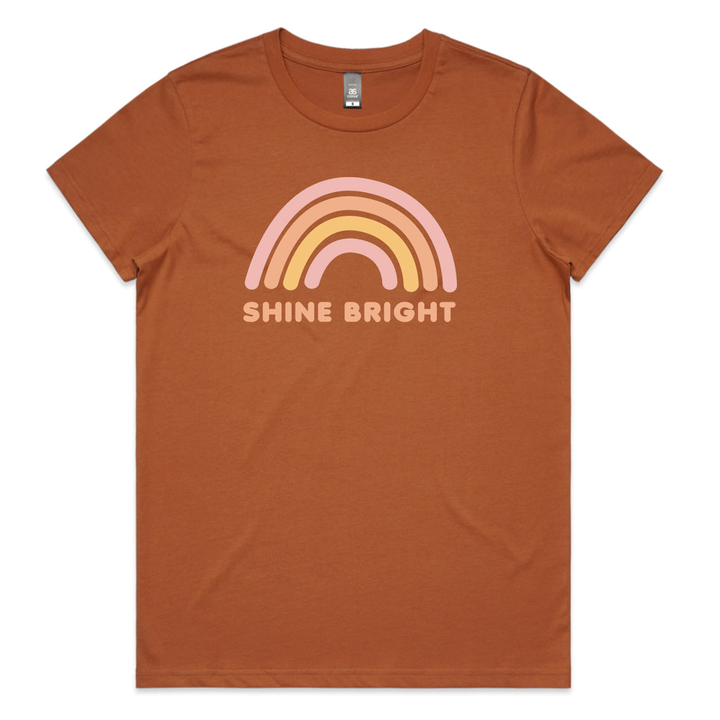 Shine Bright Rust Womens T-shirt