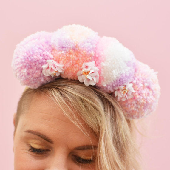 Pompom Crown Festival - Cotton Candy