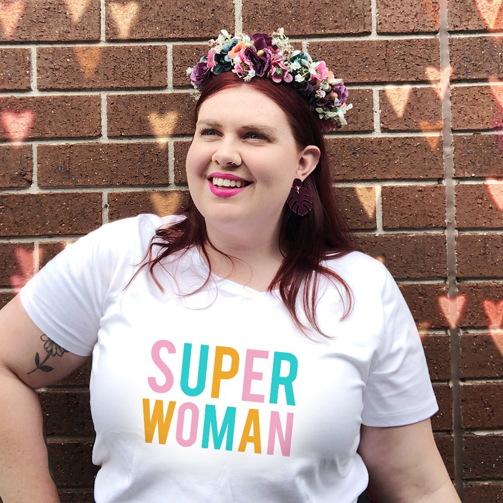 PLUS SIZE SuperWoman Womens T-shirt