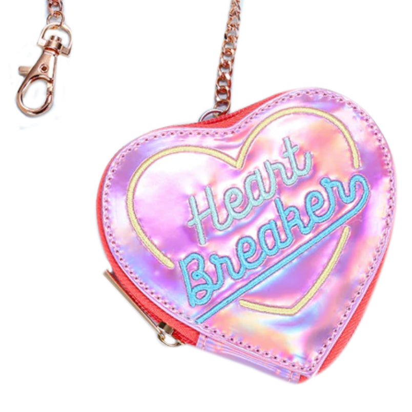 Coin Purse - Love Heart Heartbreaker (Pink or silver)
