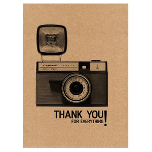 GREETING CARD - THANK YOU VINTAGE CAMERA