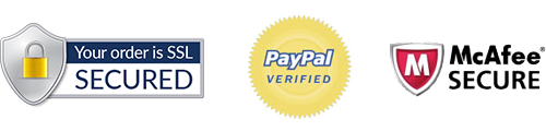 Your order is SSL secured. PayPal verified. McAfee Secure site.