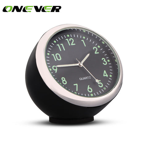 Onever 40mm Anti-Scratch Car Clock Mechanics Quartz Clock with Luminous Light Mini Noctilucent Watch Clocks for Auto Decoration
