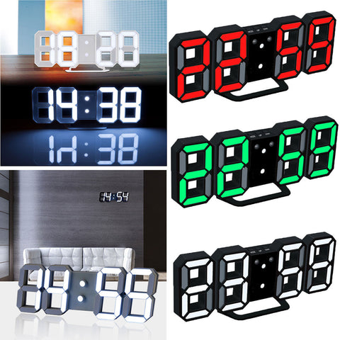 Modern Home Wall Clock Timer 3D LED Digital Wall Clock