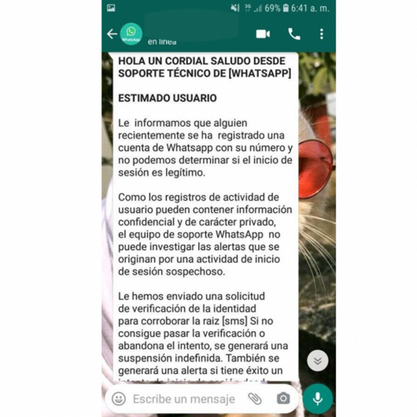 Nueva estafa de WhatsApp - Boletín Semanal de LISA Institute