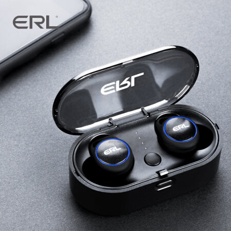 ERL2.0 Waterproof Bluetooth 5.0 Wireless Earbuds with Magnetic Charging Case