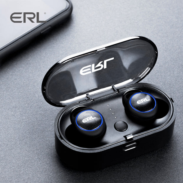 ERL2.0 Waterproof Bluetooth 5.0 Sport Wireless Earphones Magnetic Charging Case