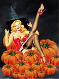 Lady halloween - Kit broderie diamants - Broderiesdiamants.fr