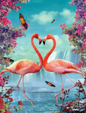 Les flamants roses | Broderie diamants - Broderiesdiamants.fr
